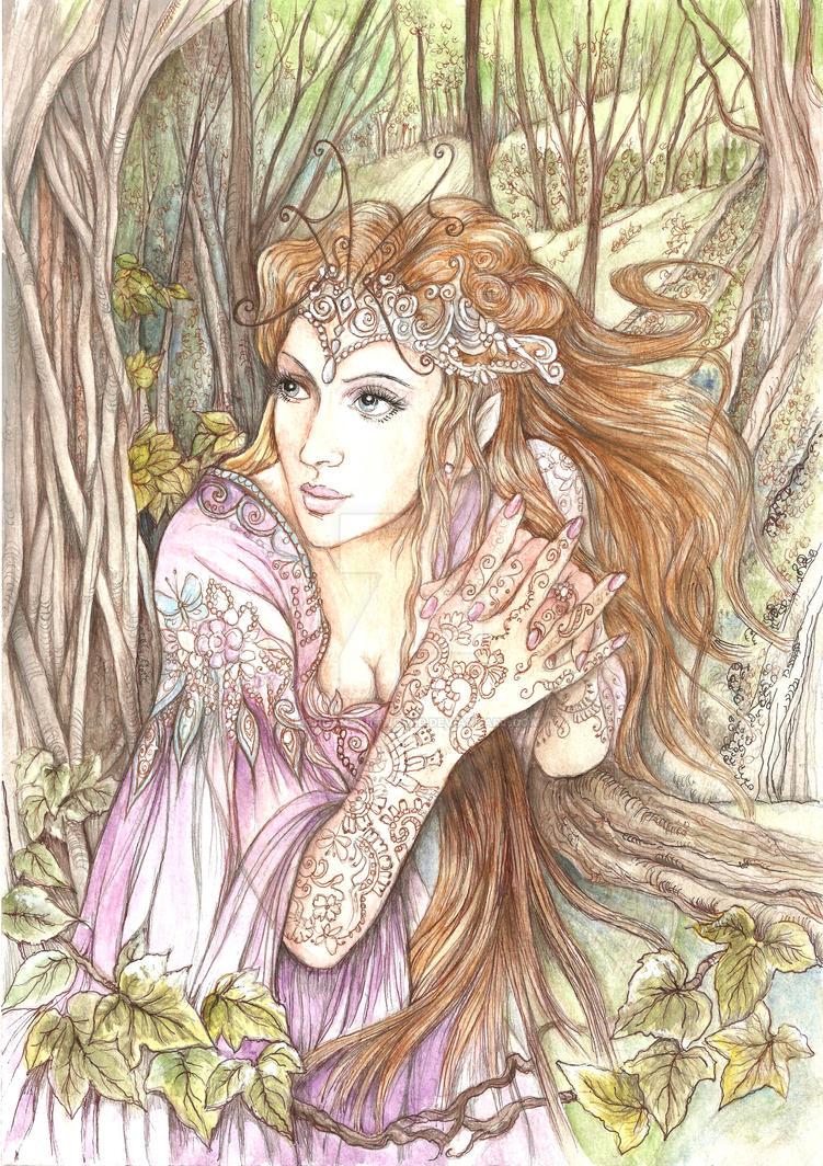 fantasy elf by morgansartworld