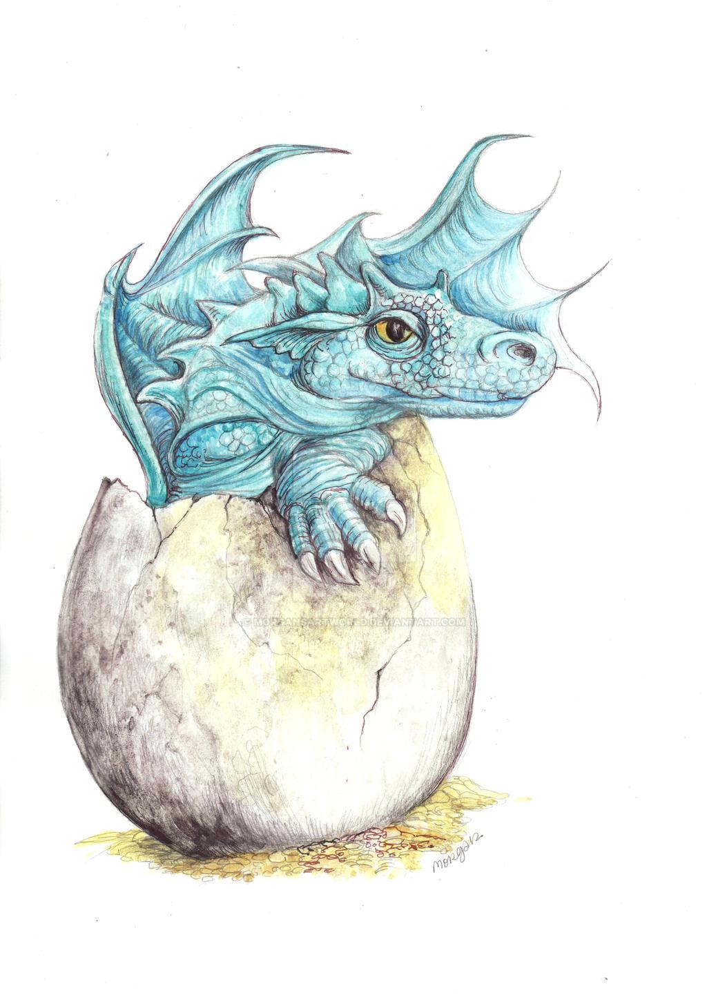 Silvertrace Baby And Egg by morgansartworld on DeviantArt