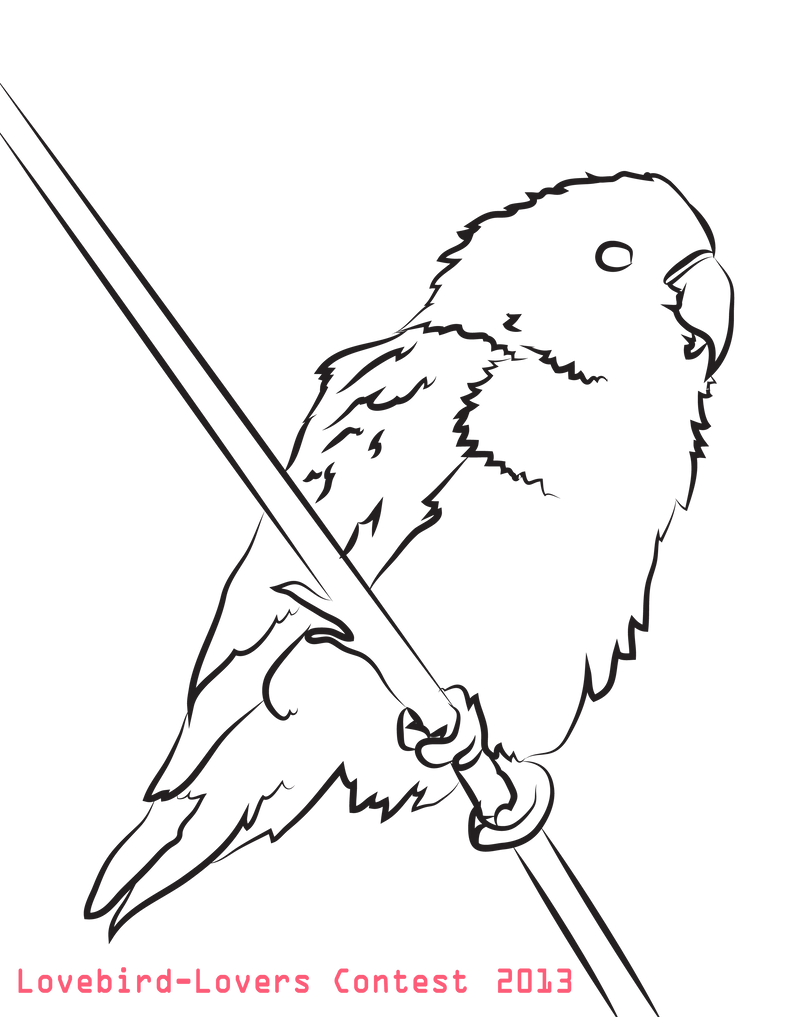 coloring pages love birds - photo#5