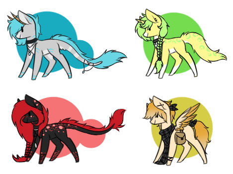 .oO Pony Adopt Oo. Points and Paypal OPEN (2/4) by Silveer-Moon