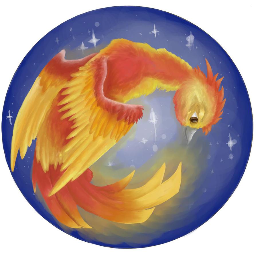 Phoenix in the night sky by Nibsiel
