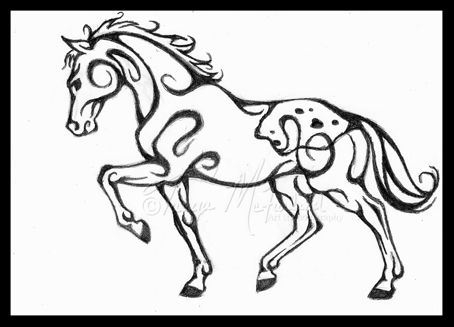 Appaloosa Tattoo Design by Elvandia