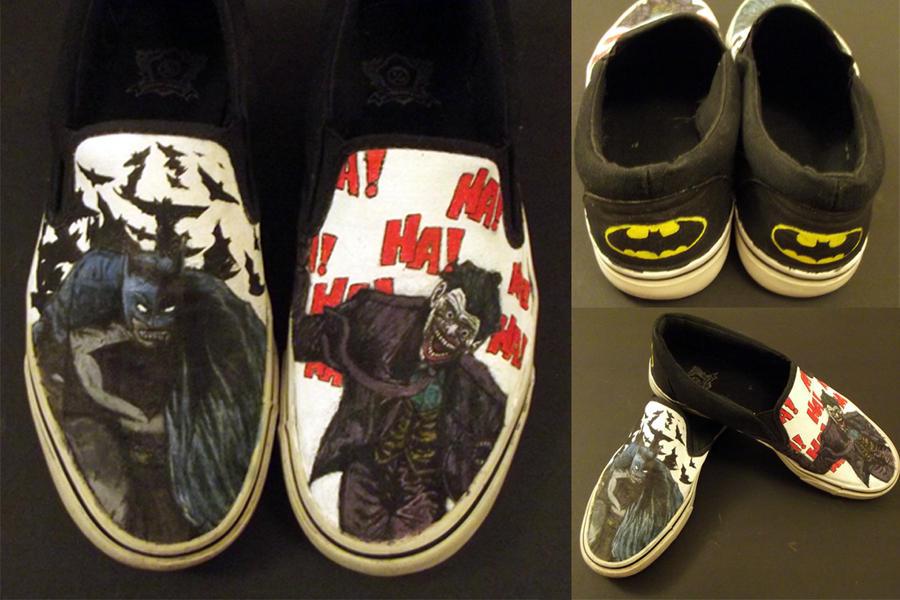 Custom Batman Shoes by swiftlogix