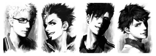 Haikyuu!! doodle 2 by PenguinFrontier