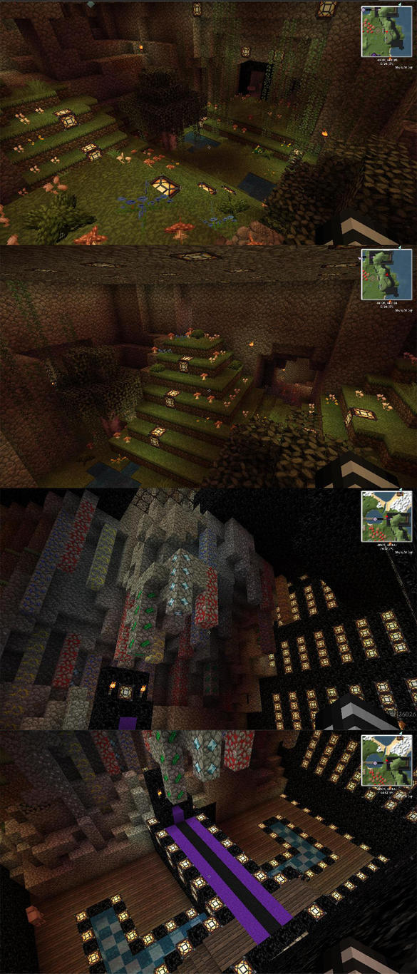 Hidden Garden and Dark king's Castle by celestialDeception