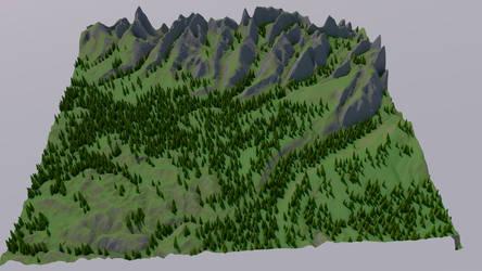 Low poly Himalayan Mountains