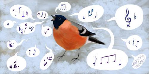 Joyous singing robin