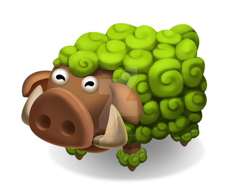 tundra Pig by zhaomingren13