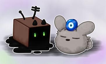 Reclusive Box, Dust Bunny by Wambysock