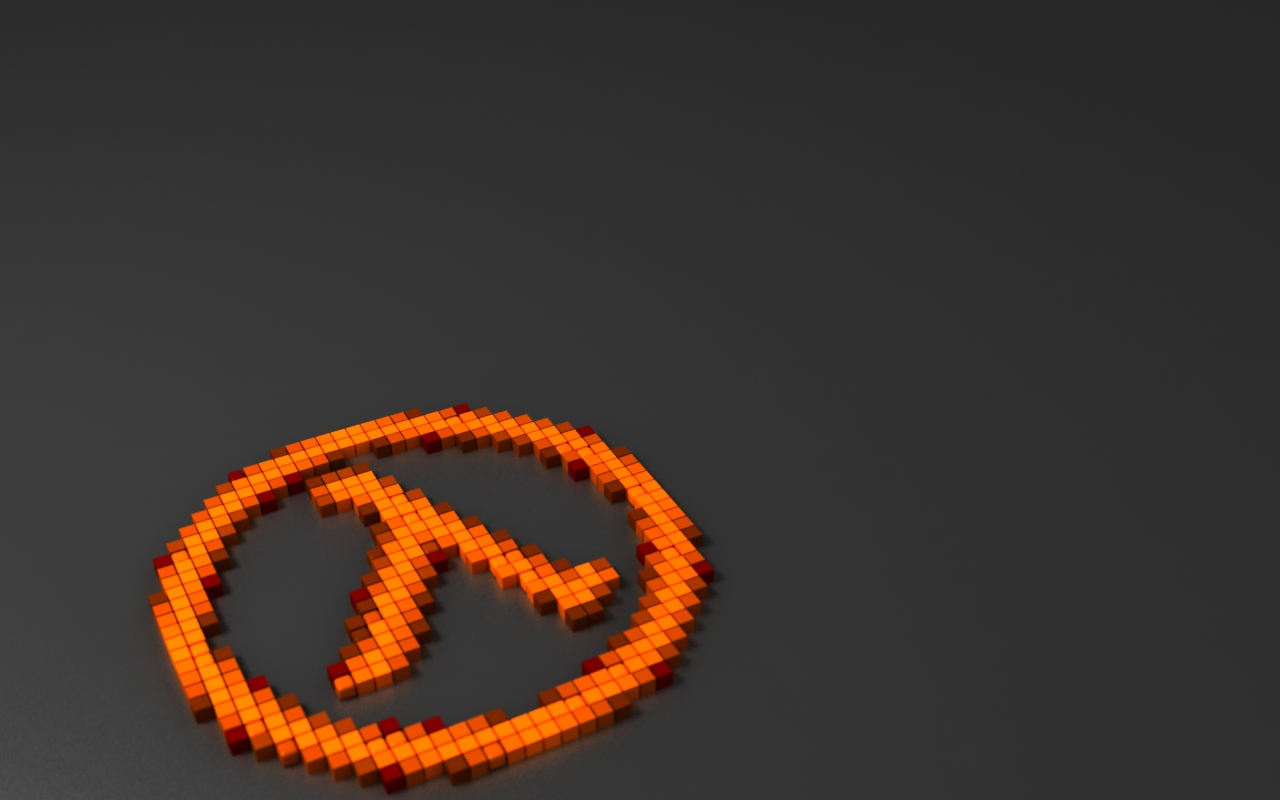 Half Life 2 Lambda 3d pixel half-life lambda by