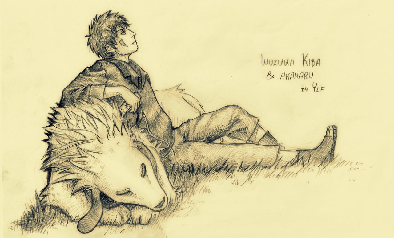 Inuzuka Kiba and Akamaru by AlyaW