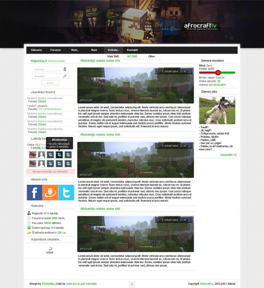 Fine Minecraft Html Website Template Ideas - Entry Level Resume ...