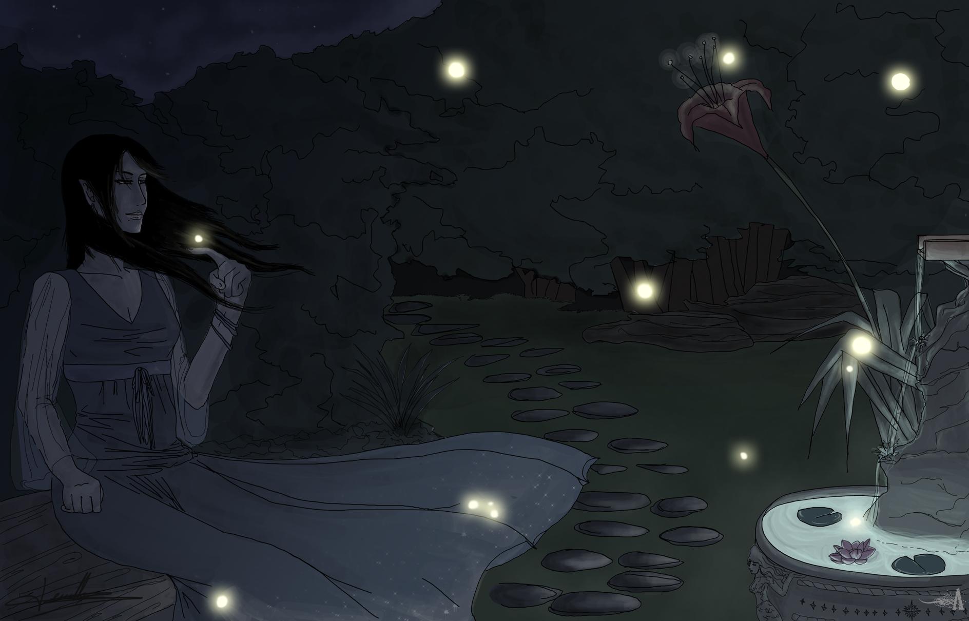 .Aya Sketch & Co ./ At_night____by_Akaruri