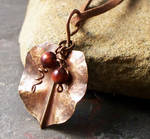 Fold formed leaf pendant by elderarc