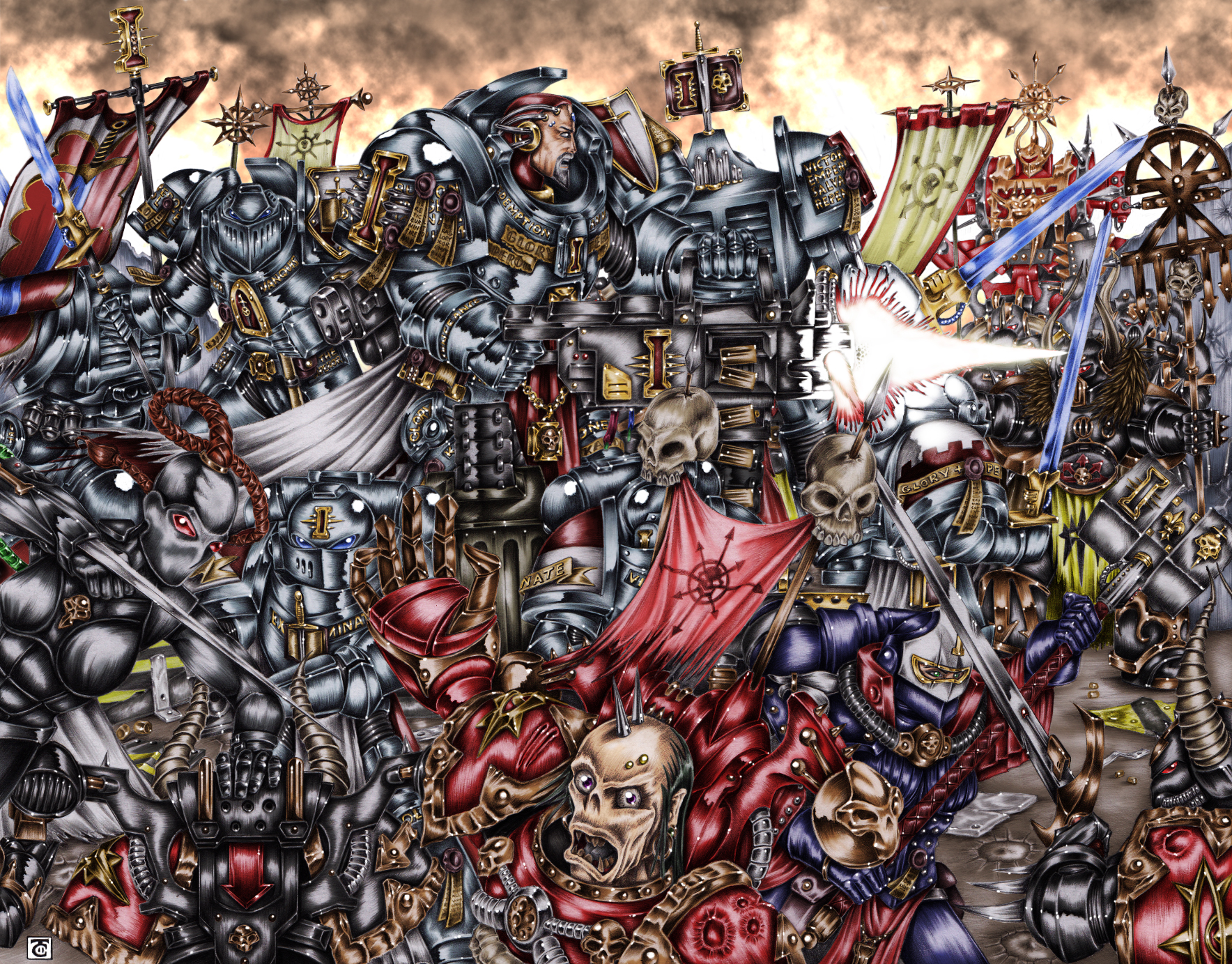Warhammer 40K: Grey Knights vs. Chaos by hairywookiee on ...