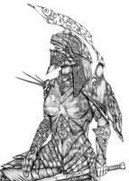 OC 'Knight Huntress' by hairywookiee