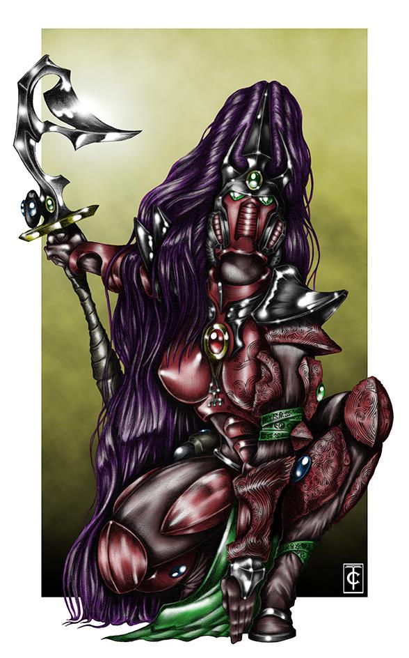 Warhammer 40K: Eldar Banshee Exarch by hairywookiee