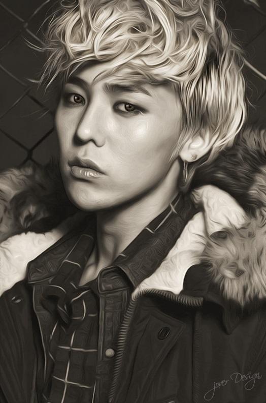G Dragon 2013 Tumblr G-Dragon Painting by J...