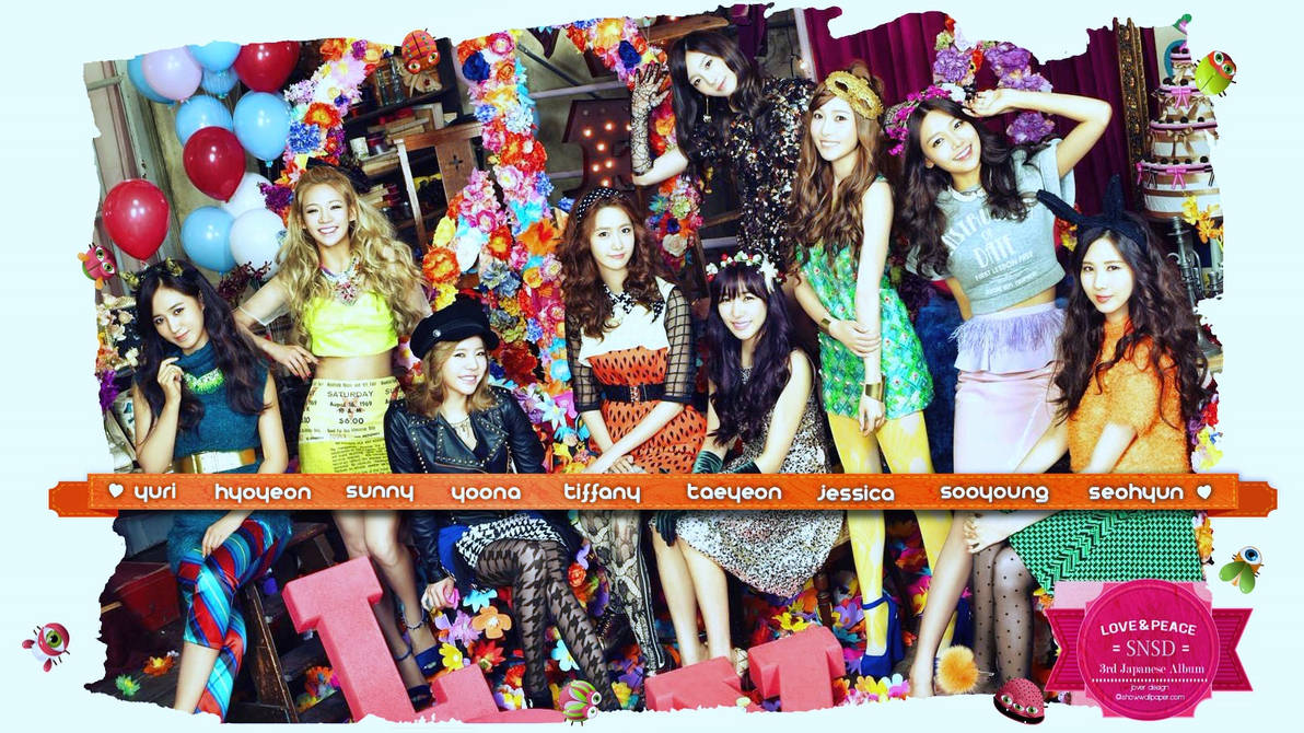 Girls Generation:Love And Peace 3rd japanese album by Jover-Design