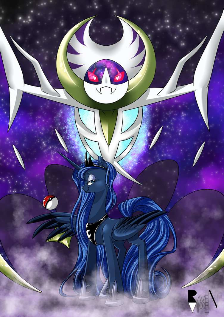Pokemon Moon Version Luna And Lunala By Allocen On