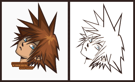 Sora Kingdom Hearts Lineart : Kingdom hearts sora lineart by think designs on deviantart
