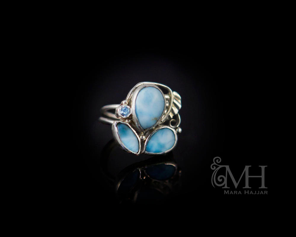 Ann's Silver Larimar ring by Haskasimo