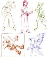 Watcher Appreciation Sketches by Kintupsi