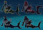 |Vampire Shark Merman batch |- Closed - by Dizzy-Possum
