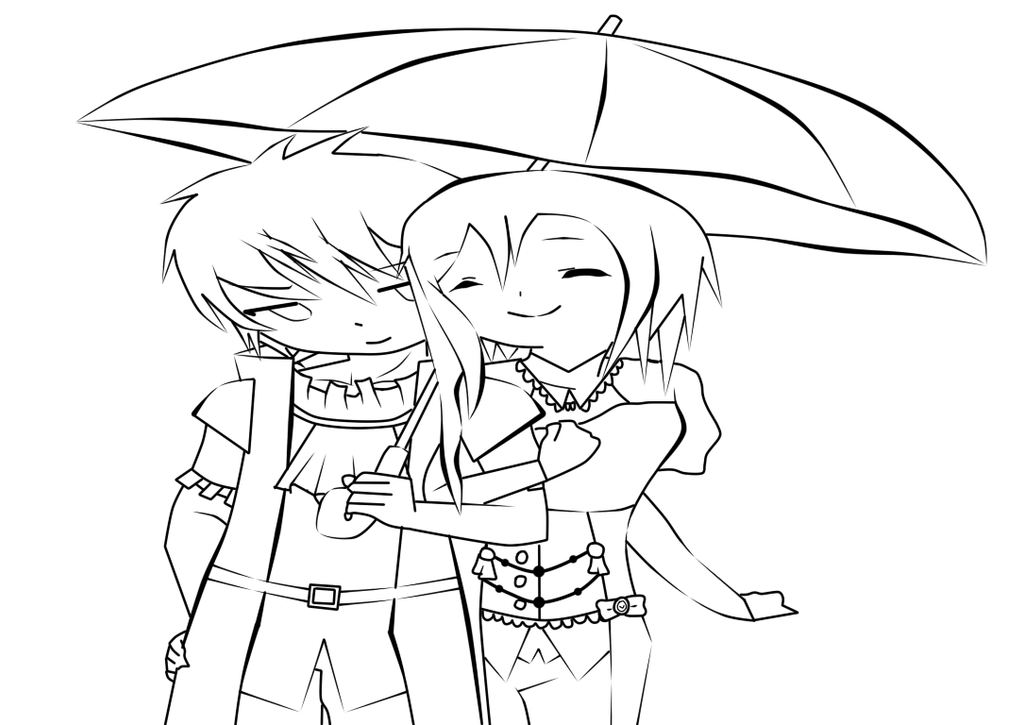 Line Art Couple : Couple lineart by utwin umiki on deviantart