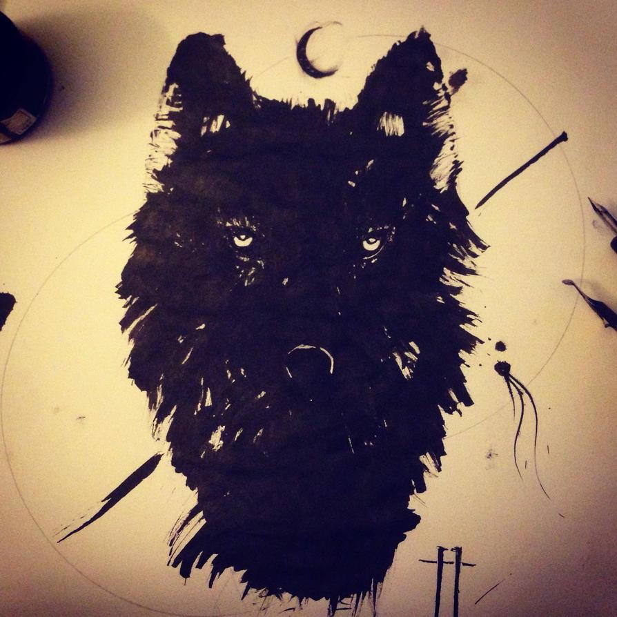 Black moon wolf by aRT2MS