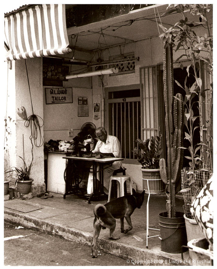Tailor and Dog