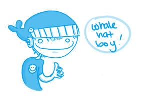 Whale Hat Boy by Armadria