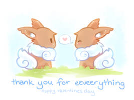 Valentines Day- Thank you for Eeveerything by aoneir