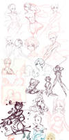 Sketch Dump: So why don't you draw fullbodies?