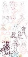Sketch Dump: So why don't you draw fullbodies? by aoneir