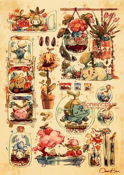 Print: Cabinet of Curious Pokemon