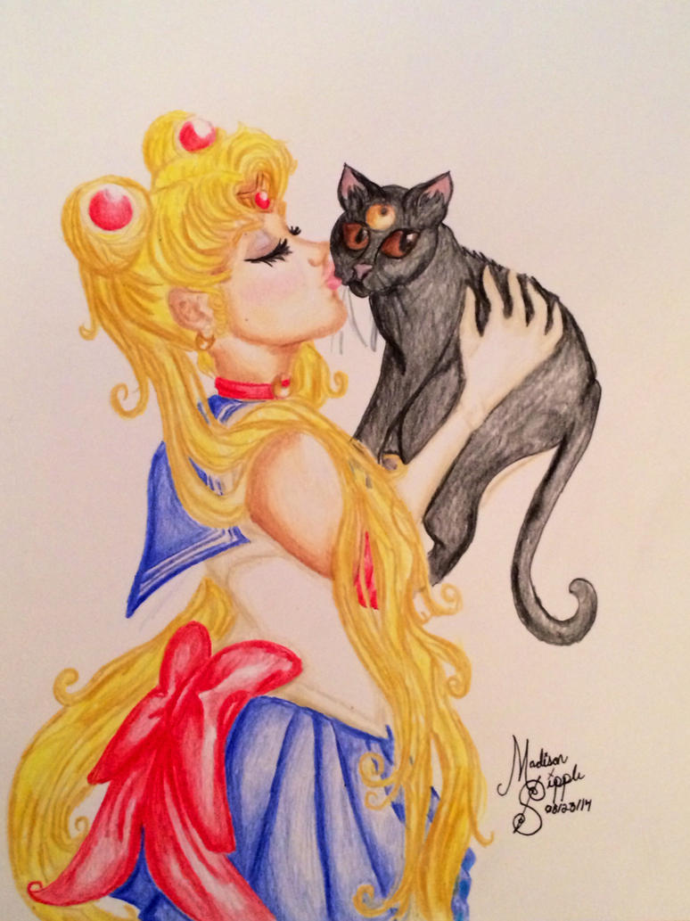 Sailor Moon and Luna by MissCarbohydrate