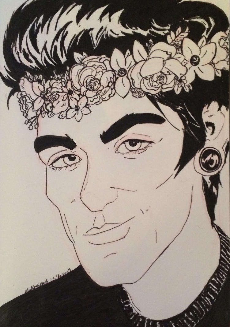 I'm not tired of drawing men in flower crowns by MissCarbohydrate