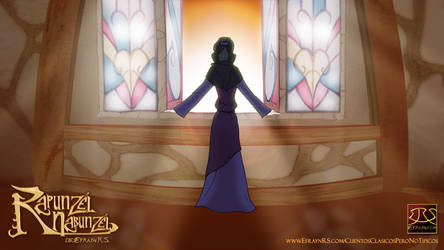 Witch in Rapunzel's Window by Efrayn