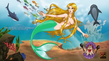 The Lesbian Little Mermaid - Postal by Efrayn