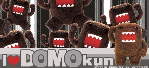 I love Domo Kun by jonardxx