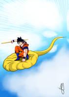Goku's Flight by Andre-APM