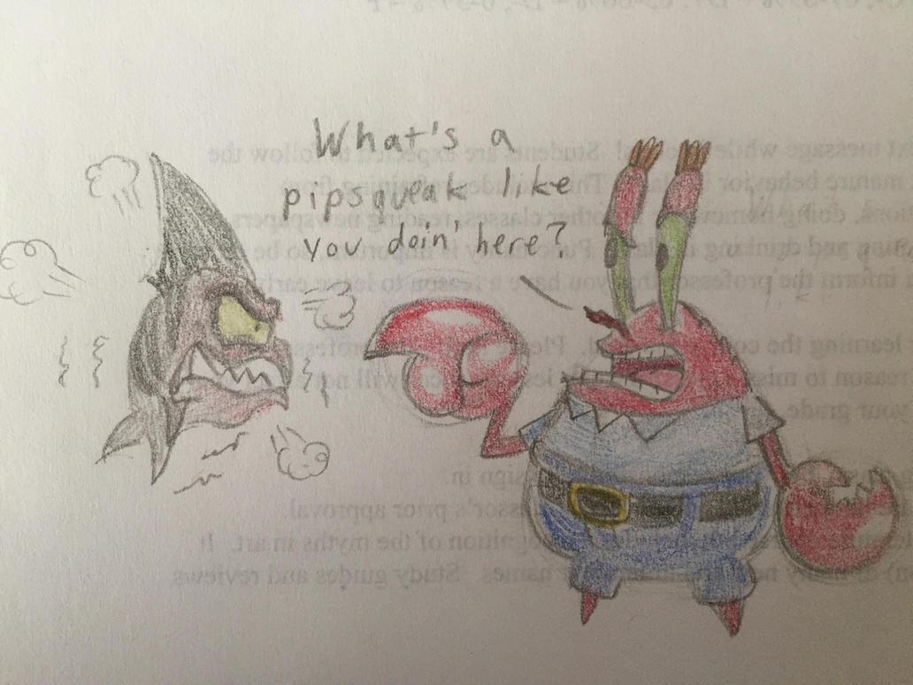 Krabs Meets Undertow by PinkDuskStone