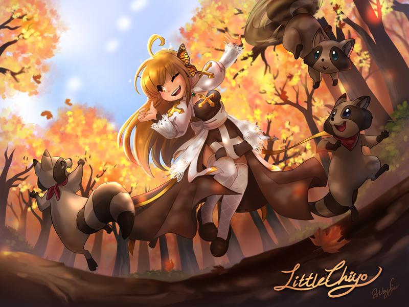 Little Chiyo and Smokies by WarlockFier