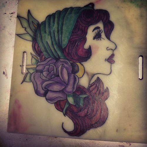 Practice Gypsy Woman Tattoo. By KayteeDeeTee On DeviantArt