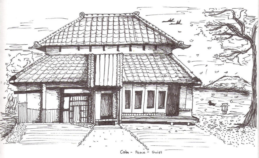 Japanese house by keppay on deviantart for Easy to draw mansion
