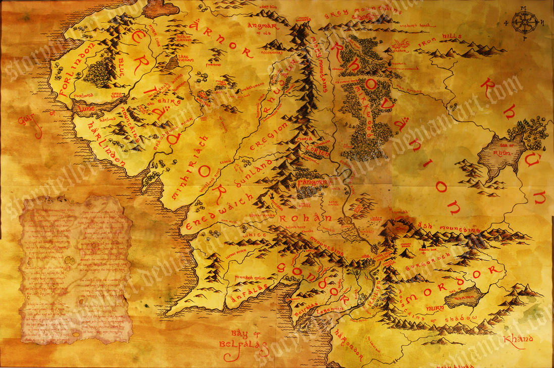 Middle Earth Map by StoryTellerF