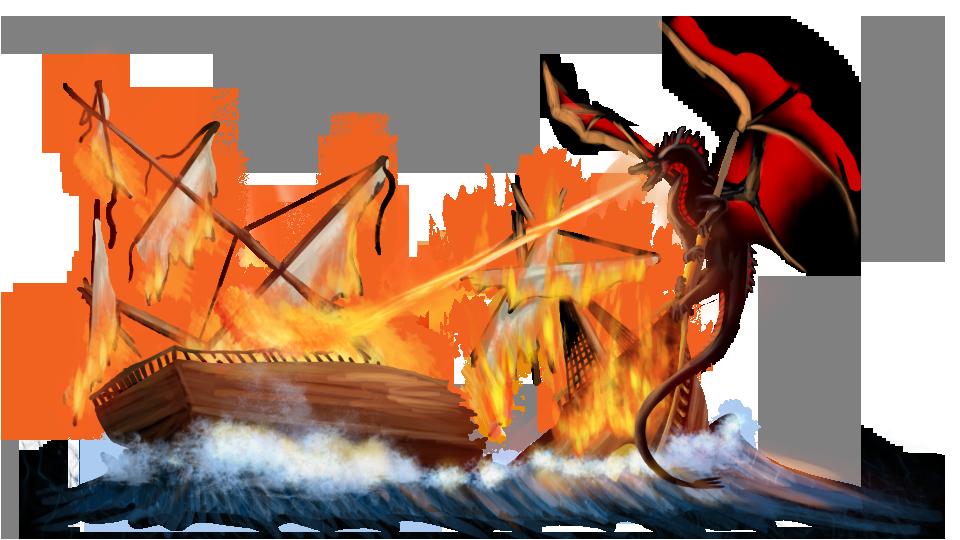 Burning Ship by SolaraEona