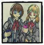 Maho and Rinku by Napasitart