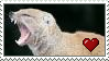 Yawning Mongoose Love Stamp by Nukeleer